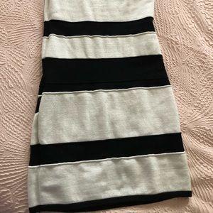 bebe Dresses - 2B Bebe striped one shoulder lurex dress